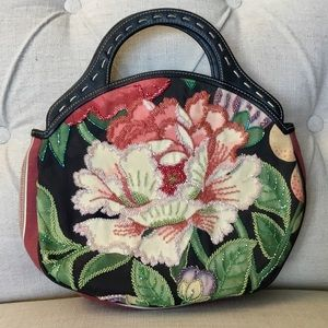 Isabella Fiore Beaded Floral Bag